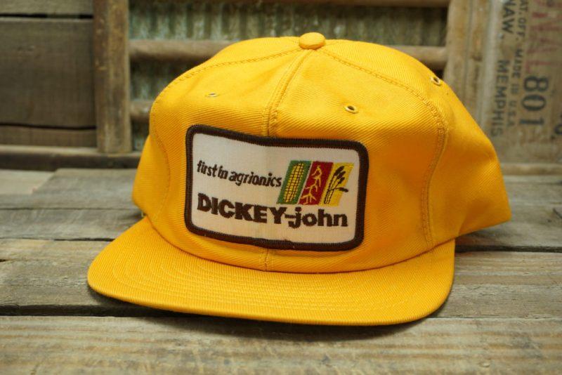 Vintage Dickey-John Snapback Trucker Hat Cap