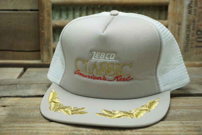 Vintage Zebco Classic Snapback Trucker Hat Cap