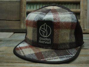 Golden Harvest Plaid Winter Hat