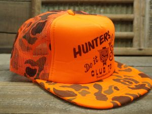Old Style Neshkoro Wisconsin Club 73 Hunters Do it With Style Hat