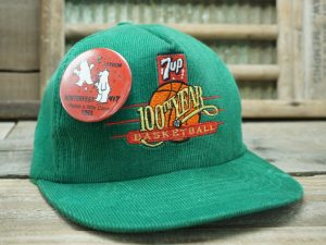 7UP 100th Year of Basketball Hat with Winterfest 1993 Button