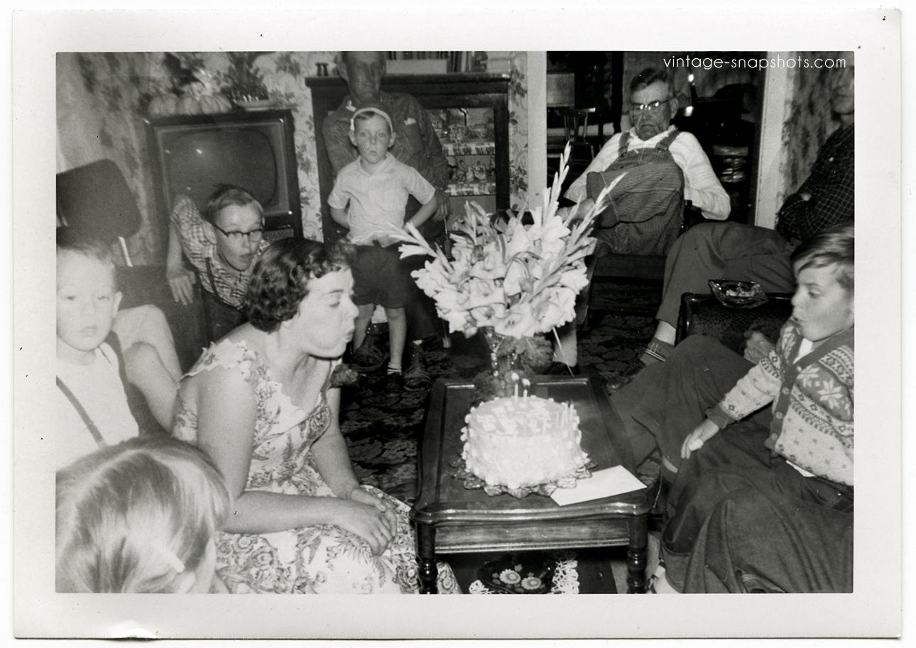 Interior Scenes Vintage Snapshots