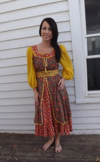 Hippie Gypsy Peasant Dress from Jody T of California