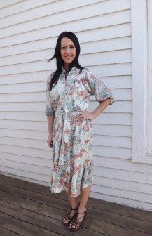 Vintage 70s Floral Print Dress from Montgomery Ward