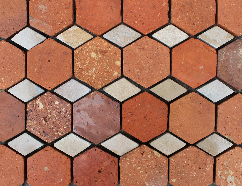 French Hexagonal Tiles With Diamond Inlay French Oak