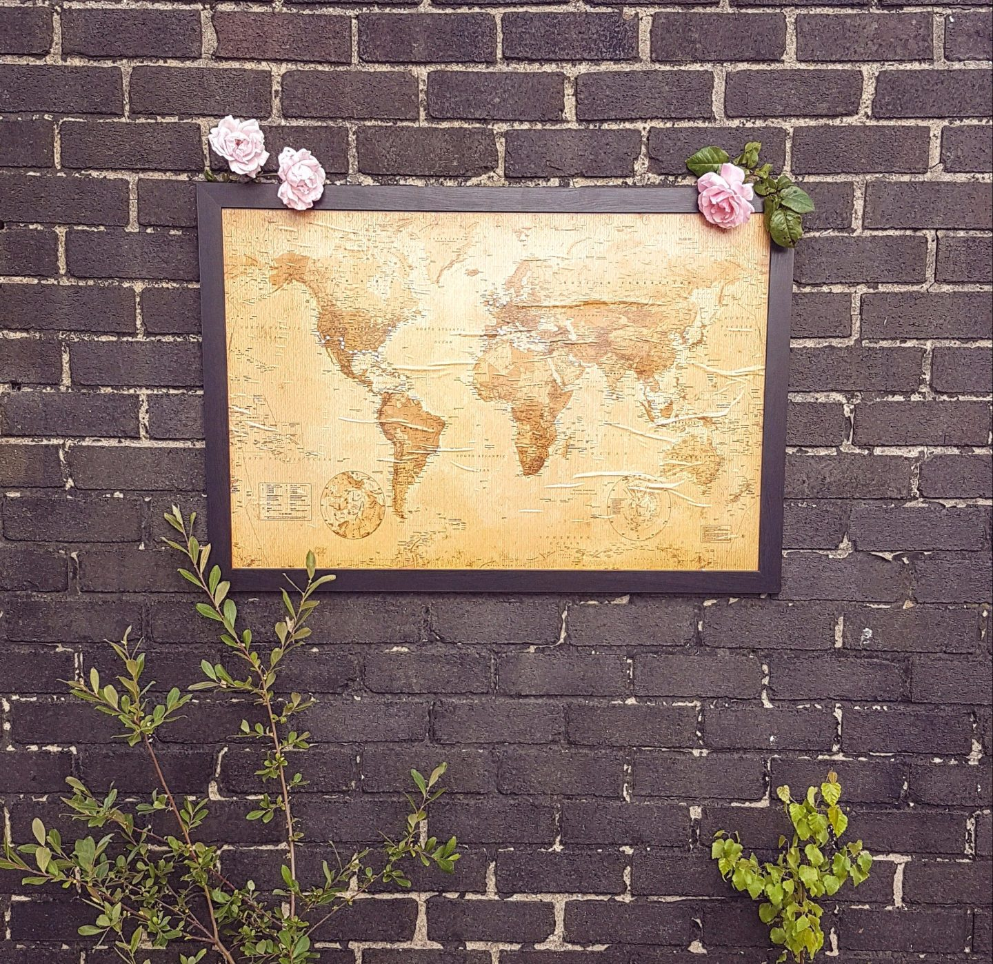 DIY Travel Cork Board Map