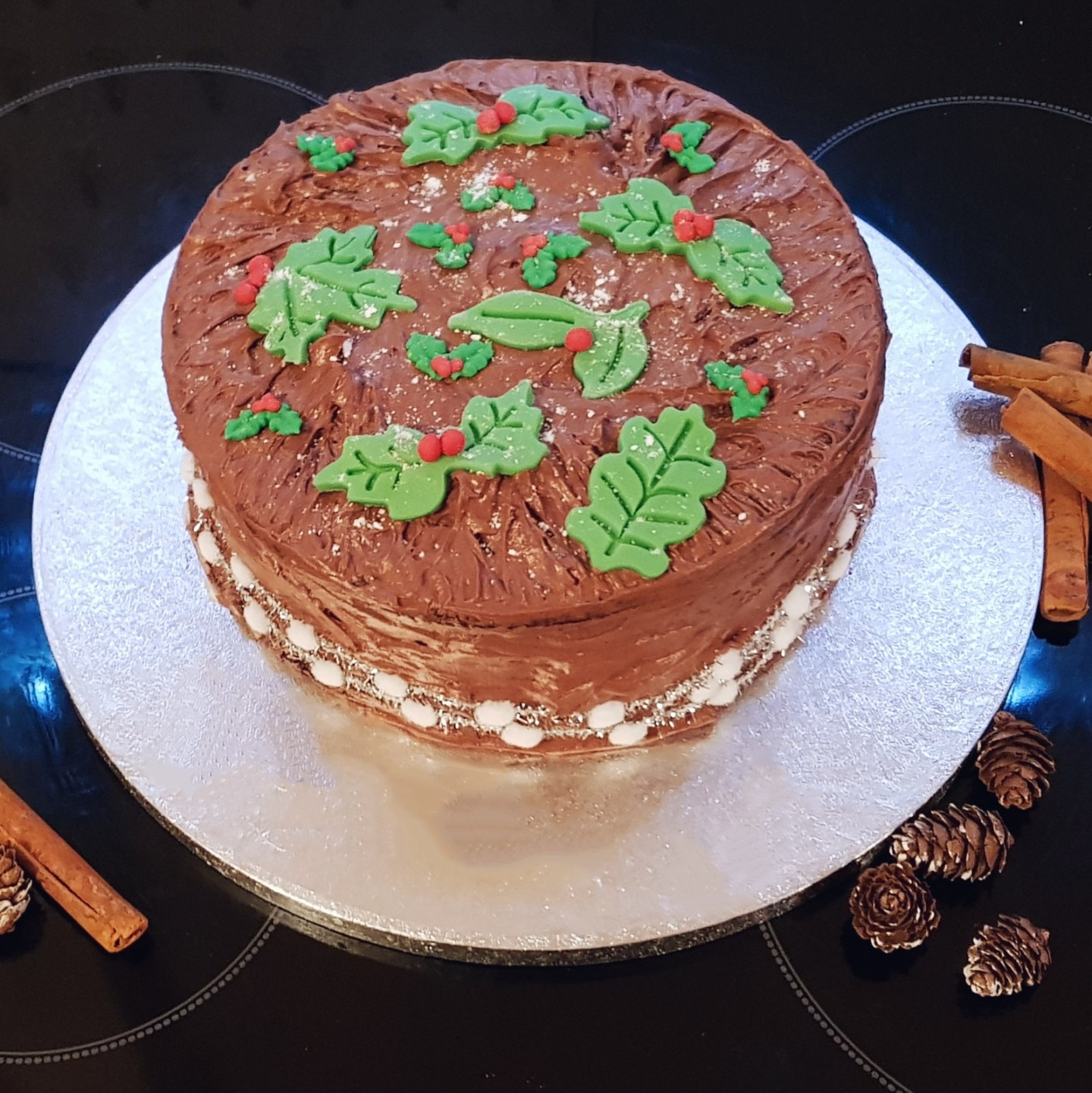 Christmas Chocolate Cake & Buttercream Frosting