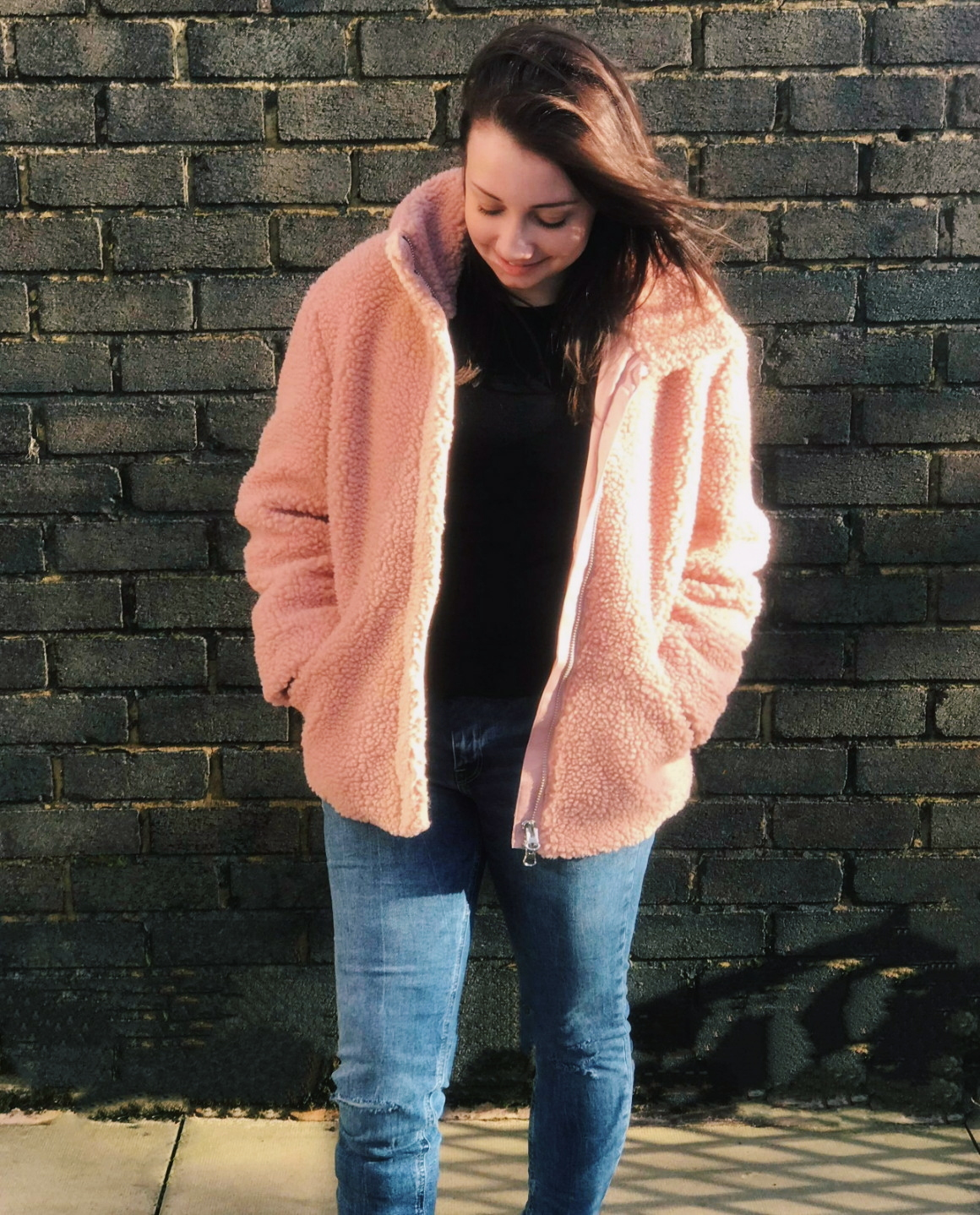 Pile Teddy Faux Fur Coat Jacket