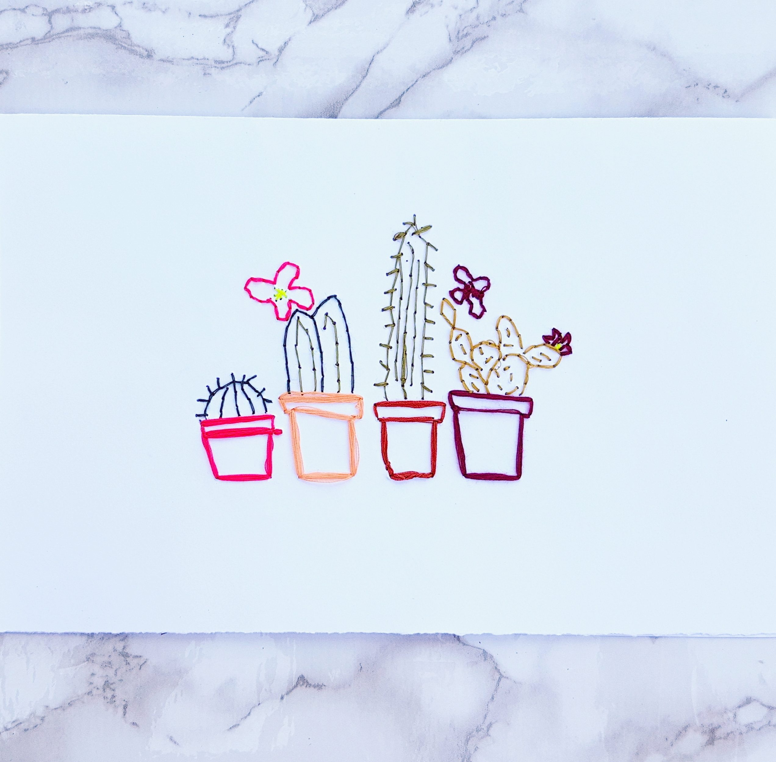 Cactus DIY Embroidery Stitch