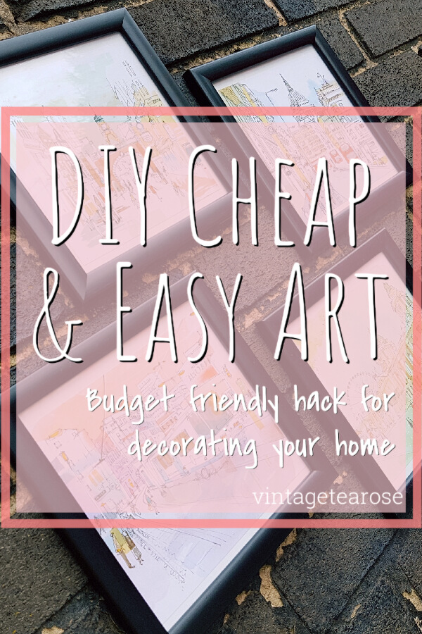 DIY Cheap & Easy Home Art Pinnable