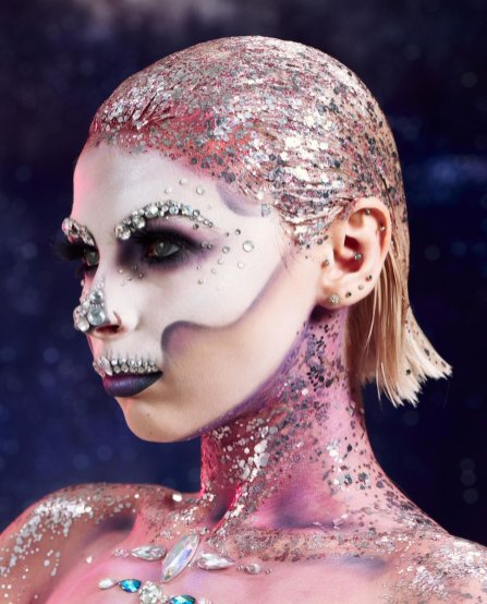 Superdrug Crystal Skull Halloween Makeup Look