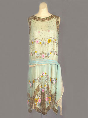French beaded flapper dress