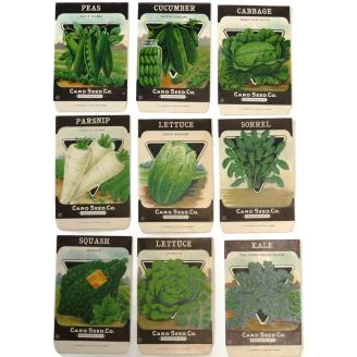 9 seed packets by the Card Seed Co