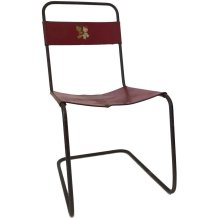 Red metal child's chair