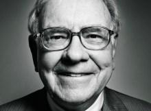 Warren Buffett Smiling Black & White