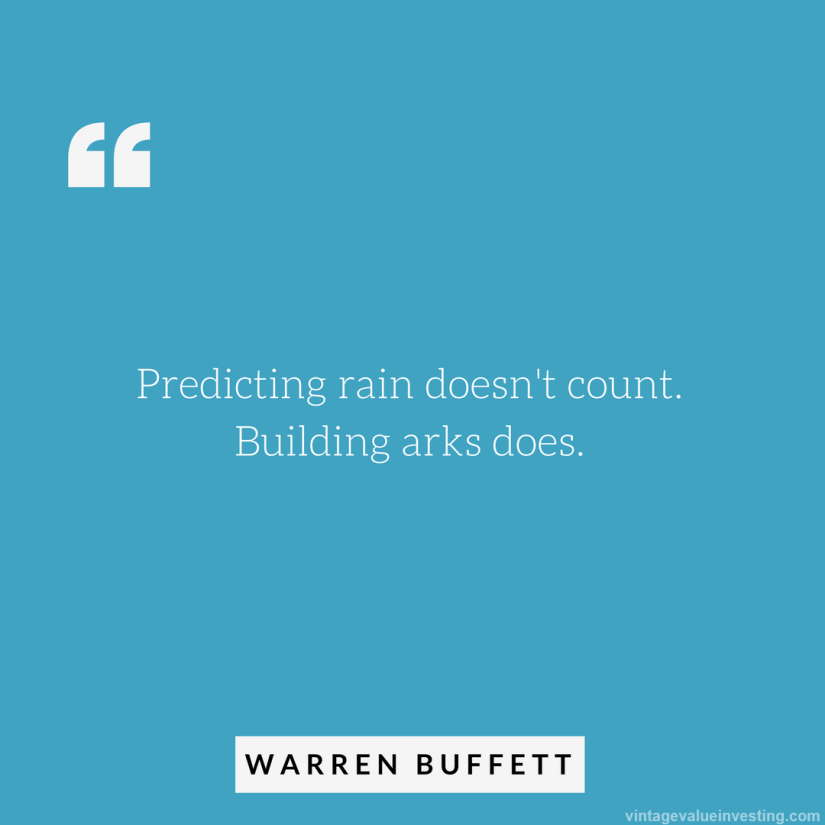 Predicting rain doesn't count - Warren Buffett quotes