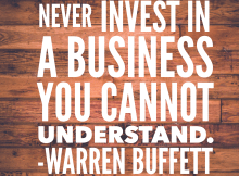 Never invest in a business you cannot understand - Vintage Value Investing