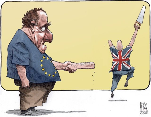 Brexit Cartoon Arm Saw - Vintage Value Investing