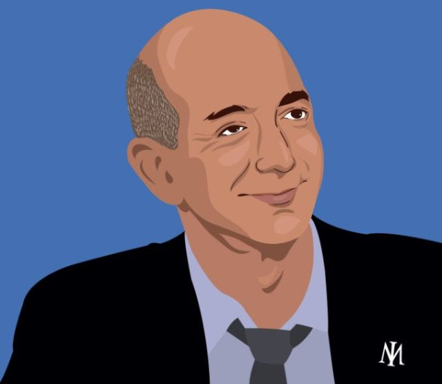 Jeff Bezos Cartoon