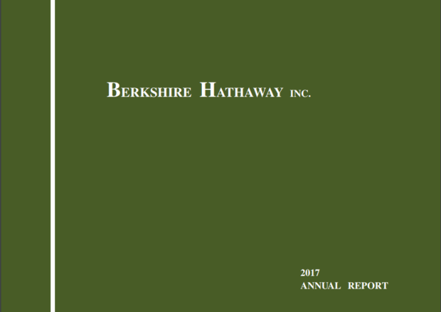 Berkshire Hathaway Letters to Shareholders 2017 - Vintage Value Investing