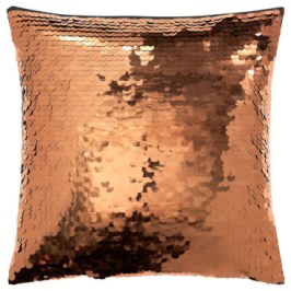 Houzz copper sequin cushion
