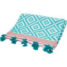 Green & White Aztec Hammam Towel, TK Maxx, £19.99