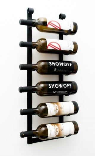le rustique wall mounted metal wine rack 6 bottles