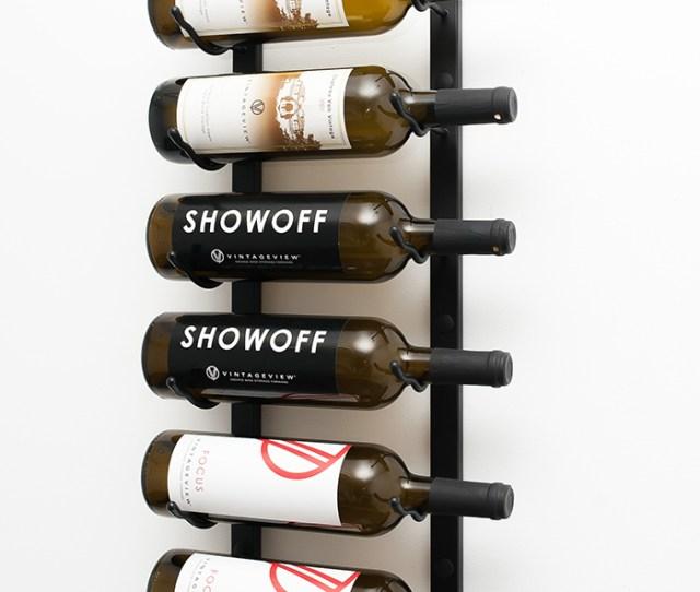 Ft Wall Series Metal Wine Rack Single Deep  Bottle In Satin