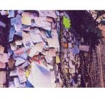 The Letters to Juliet on a wall inside the courtyard.