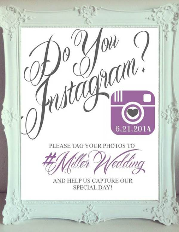Printable Instagram sign via ElegantPrintables