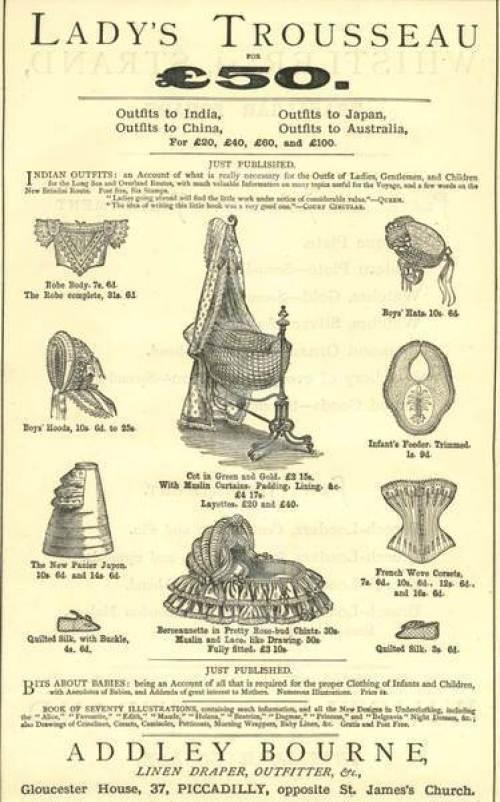 Victorian Lady's TRousseau for ÃâÃÂ50 circa 1880