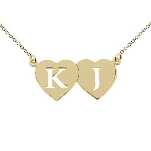 Etsy personalised 9ct gold initial necklace for National Vintage Wedding Fair by Kate Beavis