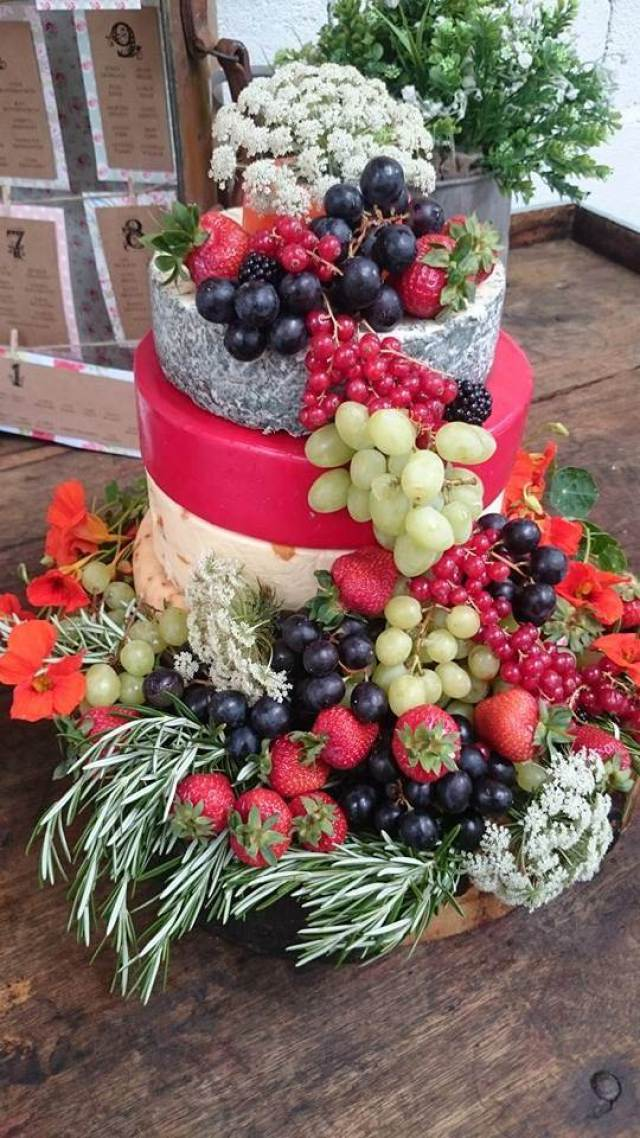 rustic vintage Cheese wedding cake at the Wellbing Farm as featured on the National Vintage Wedding Fair blog