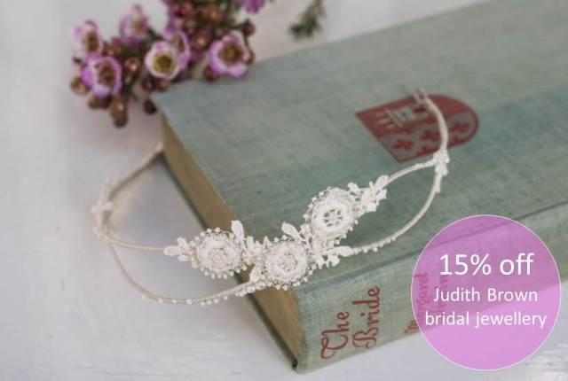 Judith Brown jewellery as featured in the Unique Bride Journal