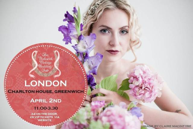 London Greenwich poster for the National Vintage Wedding Fair