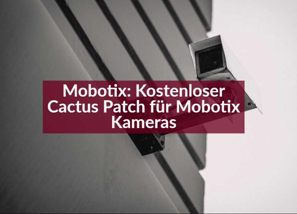 Mobotix: Kostenloser Cactus Patch für Mobotix Kameras