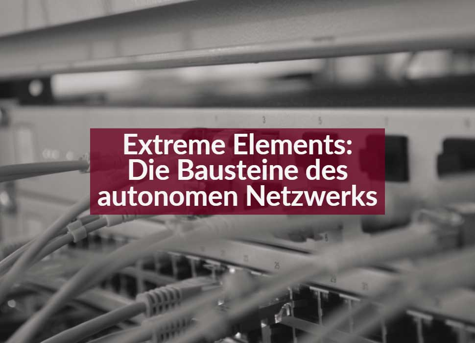 Extreme Elements: De Bausteine des autonomen Netzwerks