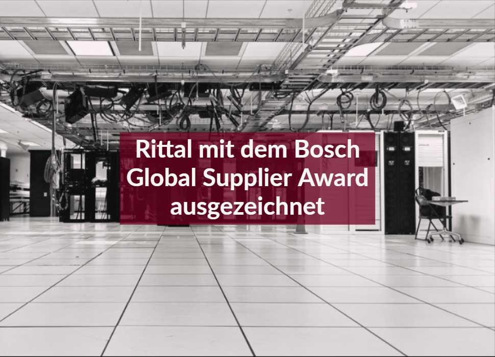 Rittal mit dem Bosch Global Supplier Award ausgezeichnet