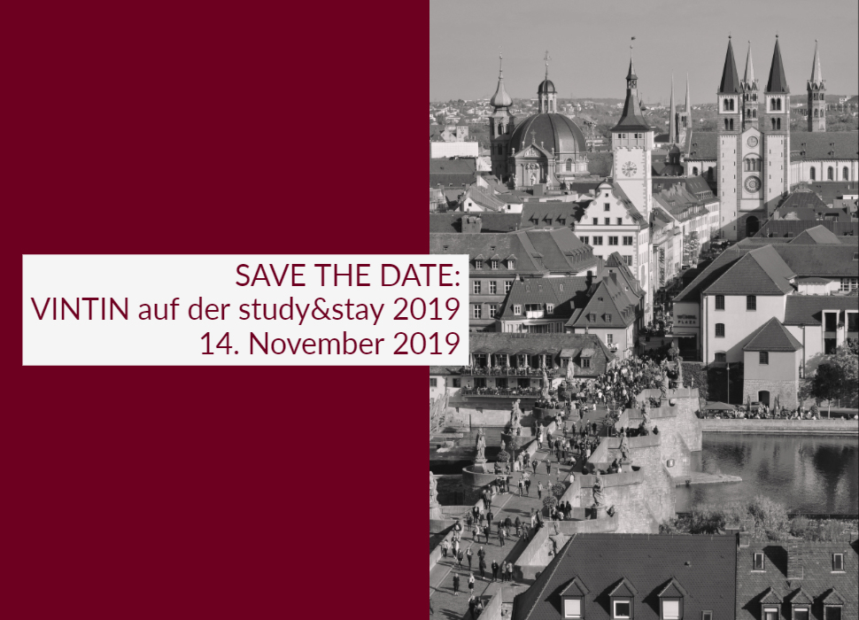 SAVE THE DATE: VINTIN auf der study&stay 2019 14. November 2019