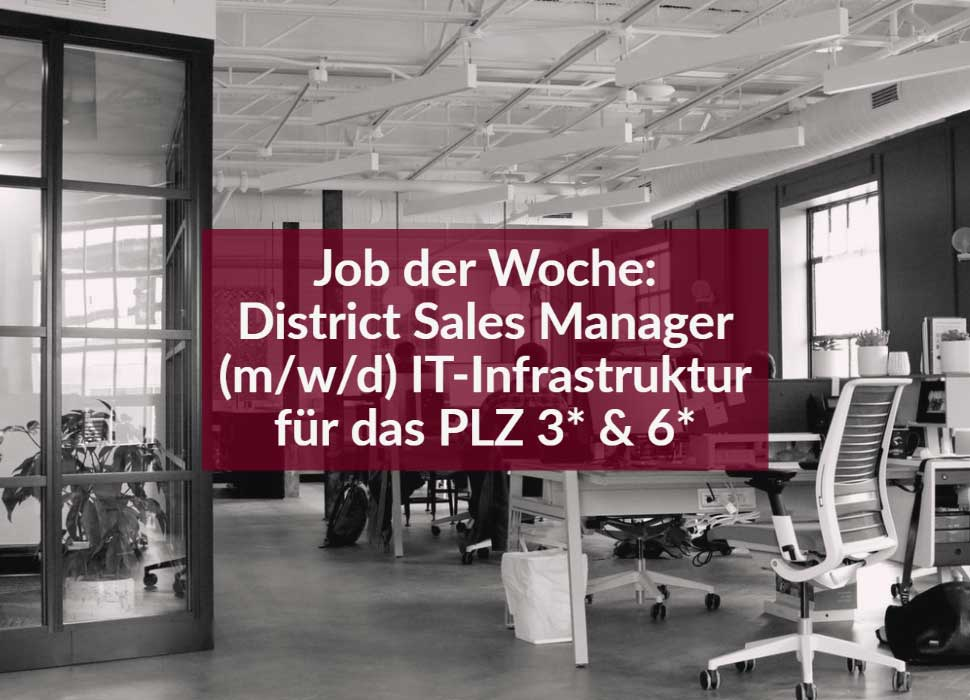 Job der Woche: District Sales Manager (m/w/d) IT-Infrastruktur für das PLZ 3* & 6*