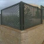 Verja residencial de metal deployée (chapa extendida)