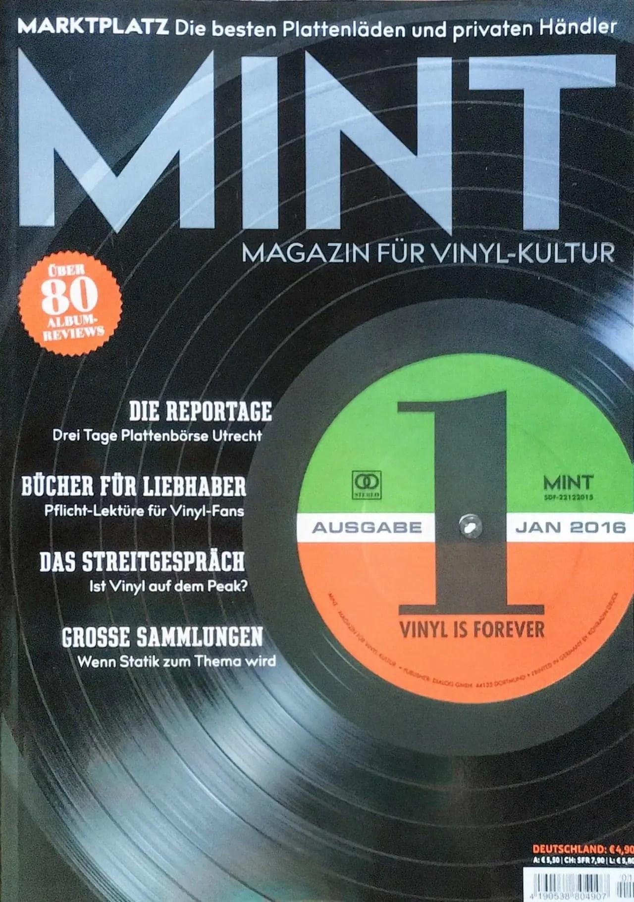 Mint Magazin für Vinyl-Kultur 01/2016 Cover