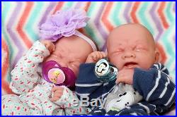 Baby Twins Reborn Doll Berenguer 14 Alive Real Soft Vinyl Preemie Life like