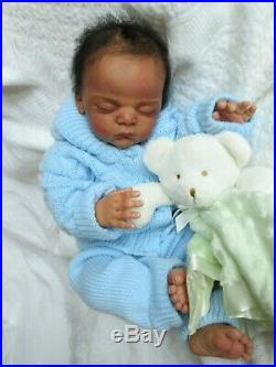 GORGEOUS Reborn Baby BOY Doll LINUS by GUDRUN LEGLER FULL Legs ETHNIC