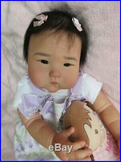 GORGEOUS Reborn Baby GIRL Doll AMNING by PING LAU- PUMPKIN DOODLE Babies
