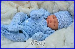 Reborn Baby Boy Doll Knitted Spanish Out Fit E113 Butterfly Babies