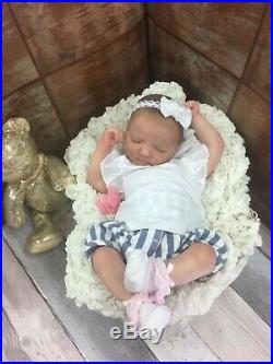 Reborn Baby Doll Jam Pant Outfit With Painted Hait Jennie Realborn 3d Scan
