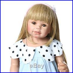 Reborn Toddler Doll Full Body Vinyl Real Life Size Standing Reborn Baby Girl 28