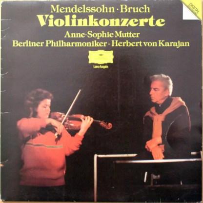 Mendelssohn* • Bruch* - Anne-Sophie Mutter, Berliner Philharmoniker, Herbert von Karajan - Violinkonzerte (LP, Album, RE)