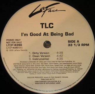 "TLC - I'm Good At Being Bad (12"", Promo)"